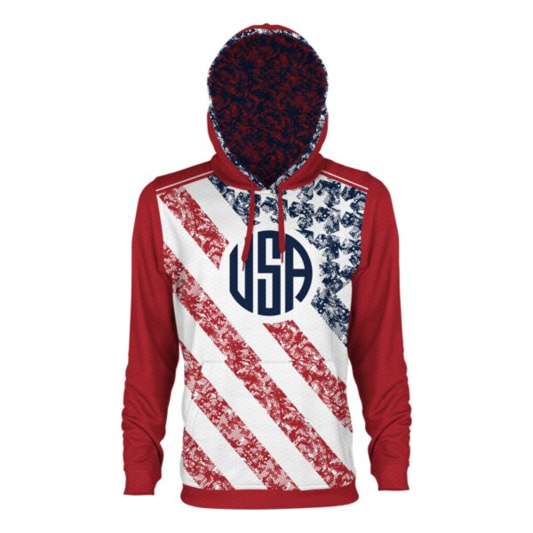 Men's USA Alpha Verge Hoodie Red/Navy/White