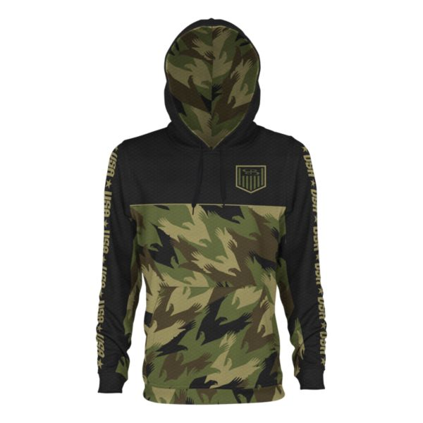 Men's USA Salute Verge Hoodie Black/Olive Drab/Sand