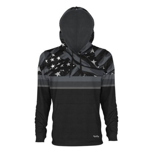 Men's USA Valor Verge Hoodie Black/Charcoal/White