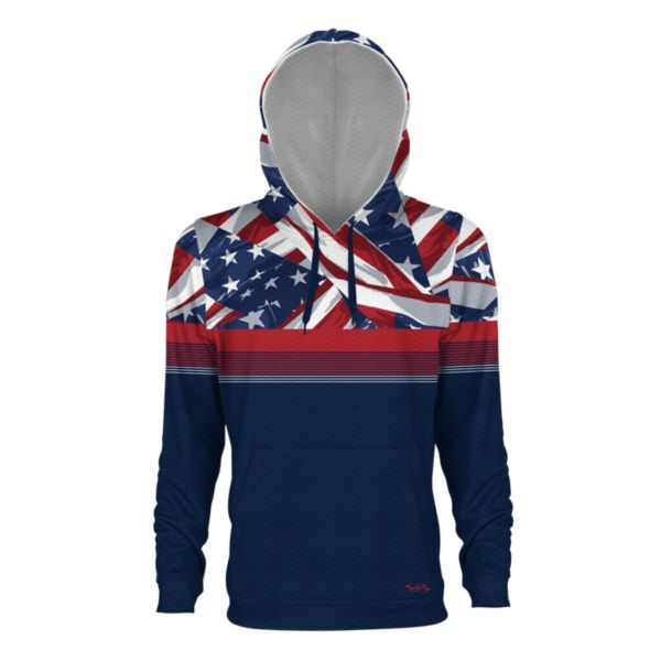 Men's USA Valor Verge Hoodie Navy/Red/White