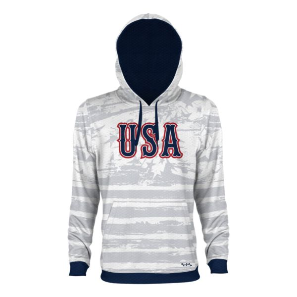 Men's USA Faded Verge Hoodie White/Gray/Navy