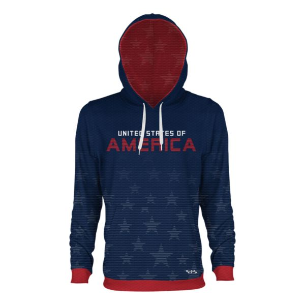 Men's USA Sovereign Verge Hoodie Navy/Red/White