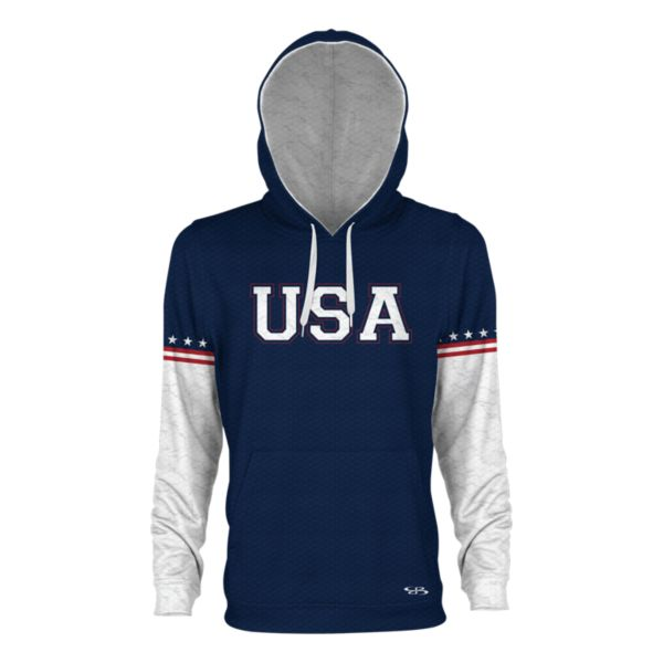 Men's USA Ambassador Verge Hoodie Navy/White/Red