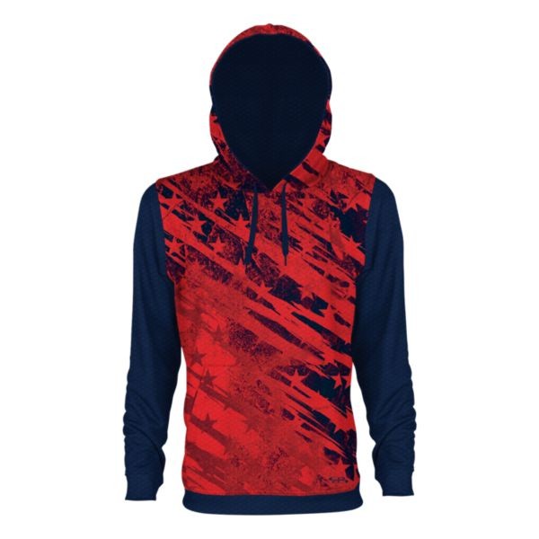 Men's USA Red Stars Verge Hoodie Navy/Red