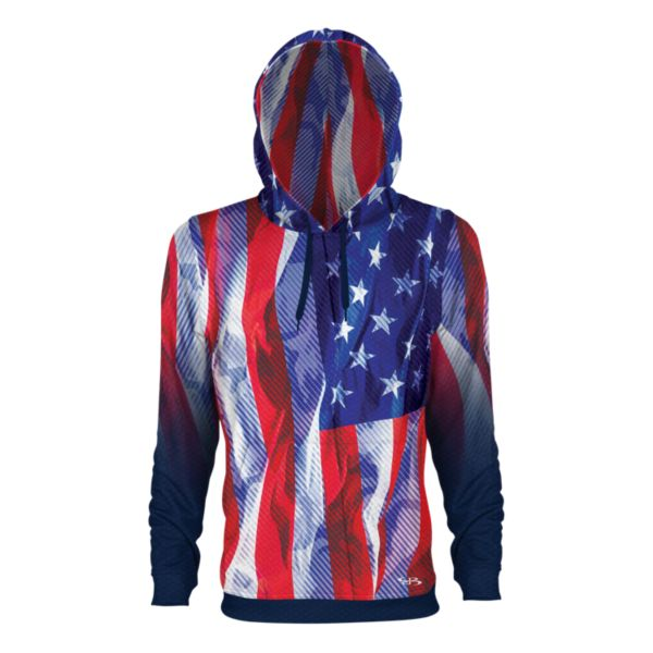 Men's USA Pledge Verge Hoodie Navy/Red/White