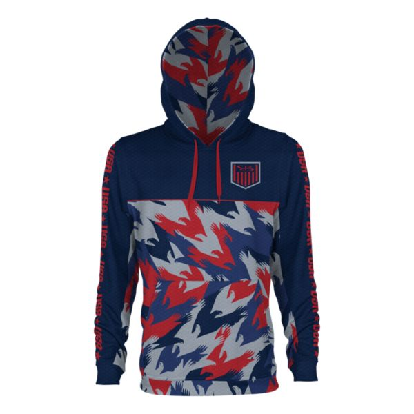 Youth USA Salute Verge Hoodie Navy/Red/Gray
