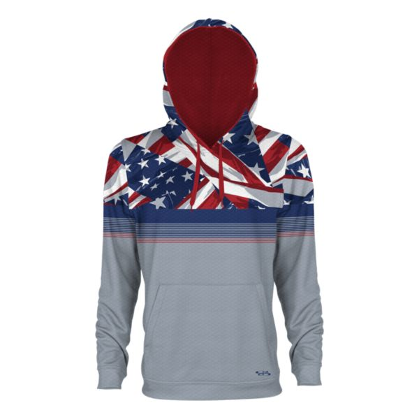 Youth USA Valor Verge Hoodie Gray/Royal/Red