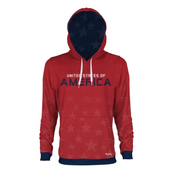 Youth USA Sovereign Verge Hoodie Red/Navy/White