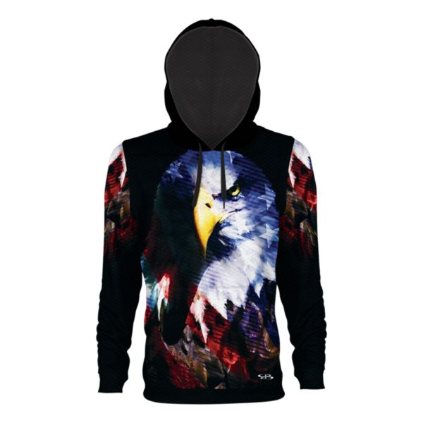 Youth USA Contour Verge Hoodie Black/Navy/Red