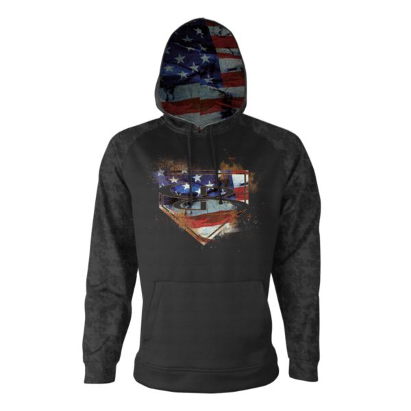 Men's USA Pitch Verge Hoodie Black/Royal/Red