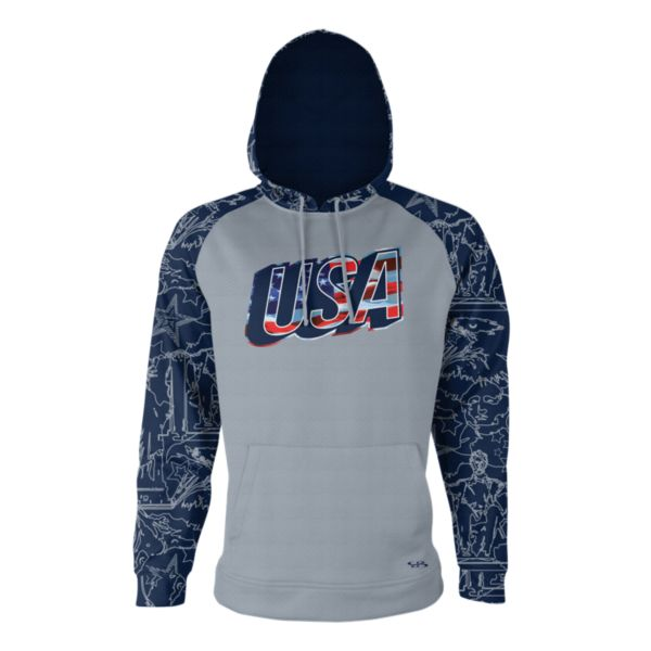 Men's USA Drift Verge Hoodie Gray/Navy/White