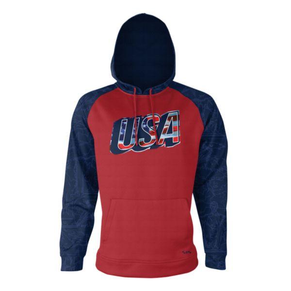 Men's USA Drift Verge Hoodie Red/Navy/Royal