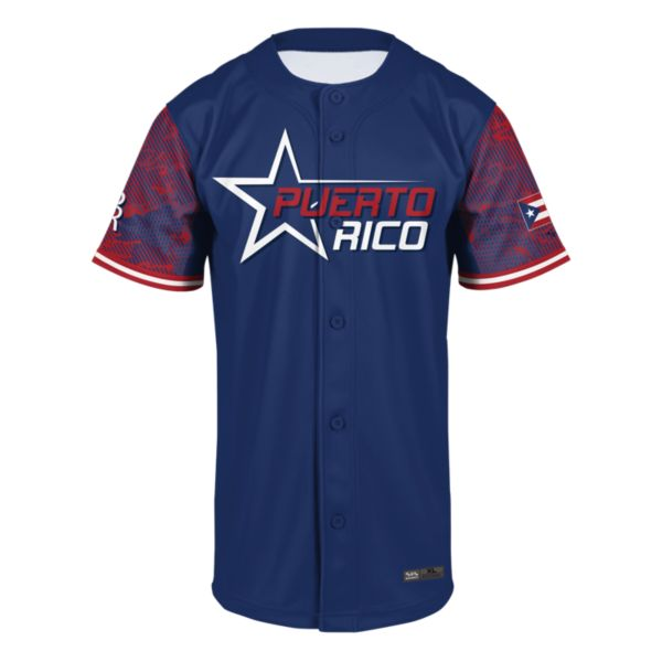 Men's Puerto Rico Full Button Fan Jersey