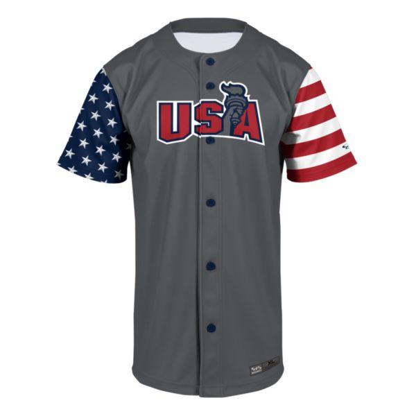 Men's USA Torch Full Button Fan Jersey