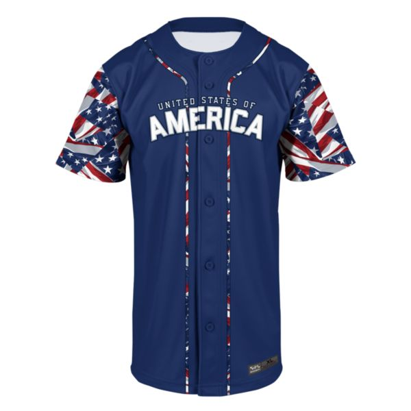 Men's USA Pride Baseball Jersey