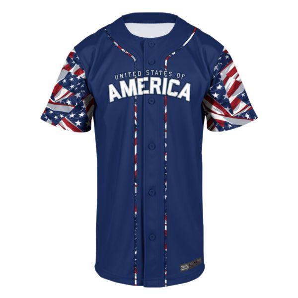 Youth USA Pride Baseball Jersey