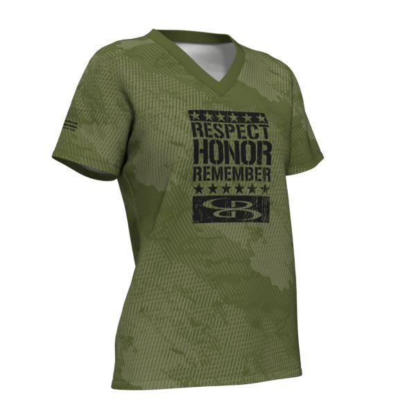 Women's USA Micromesh V-Neck T-Shirt
