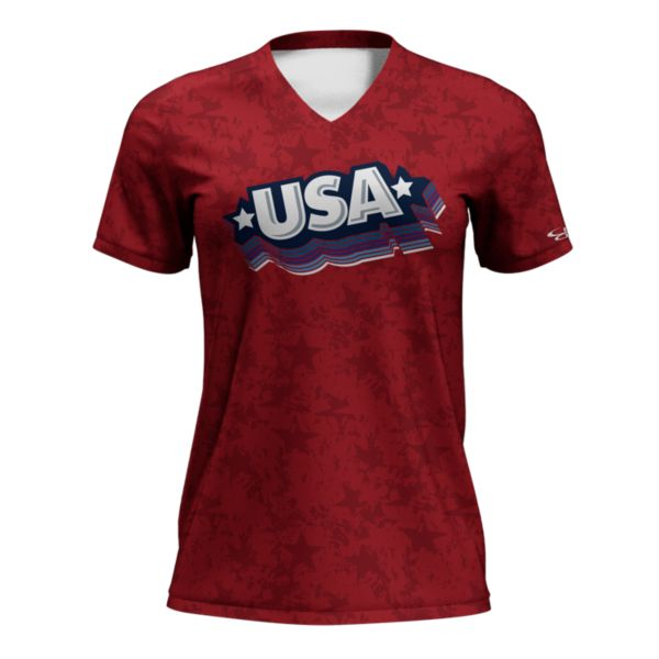 Women's Fan-Knit USA Rocket Red/White/Navy