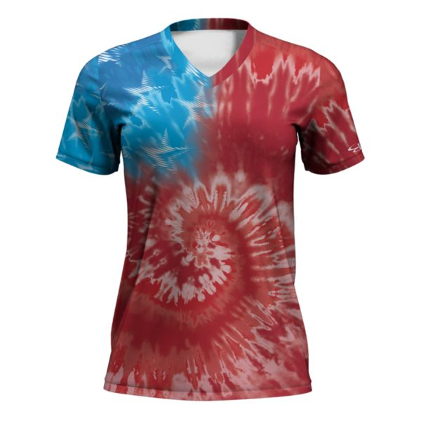 Women's Fan-Knit USA Lincoln Red/Azure/White
