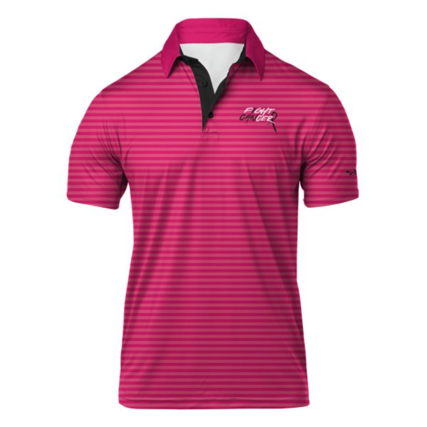 Men's Breast Cancer Awareness Refract Semi-Fitted Polo