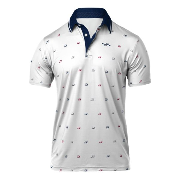 Men's Refract Semi-Fitted Golf Cart Polo