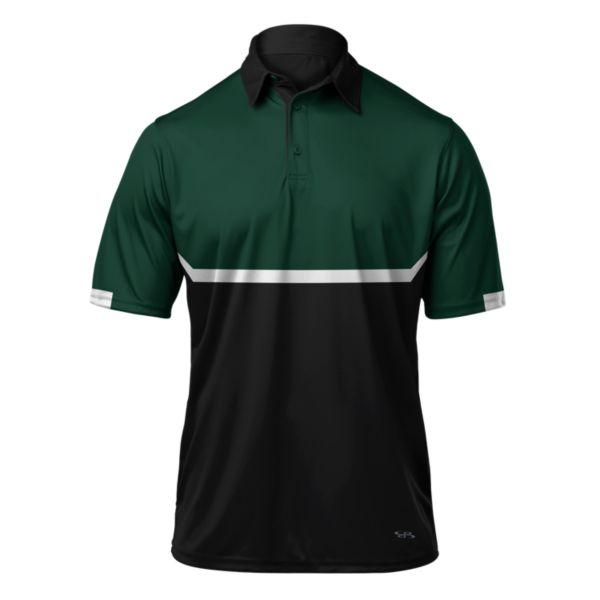 Men's Balance Polo Black/Dark Green/White