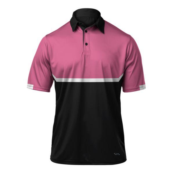 Men's Balance Polo Black/Pink/White