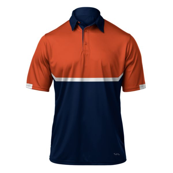 Men's Balance Polo Navy/Orange/White