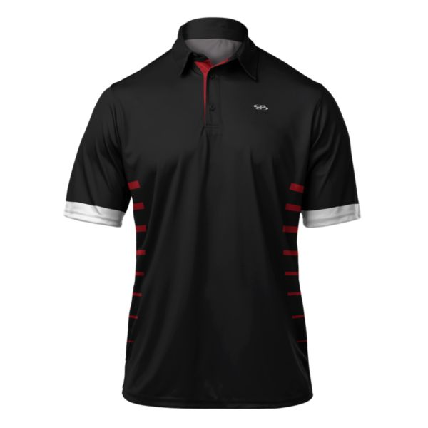 Men's Sabre Premier Polo Black/Red/White