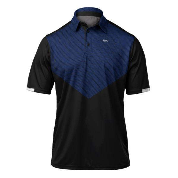 Men's Shock Premier Polo Black/Royal