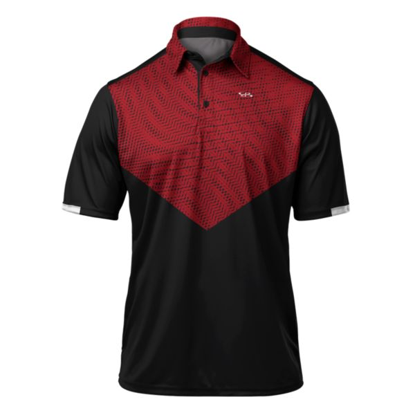 Men's Shock Premier Polo Black/Red
