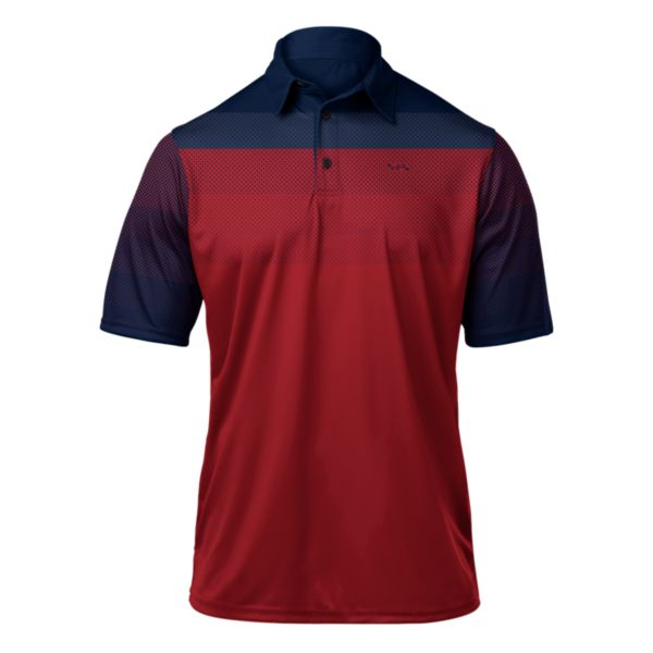 Men's React Premier Polo Navy/Red