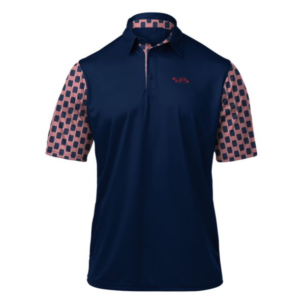 Men's USA Centennial Polo Navy/Red/White