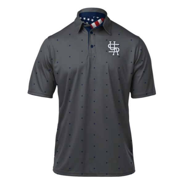 Men's USA Union Polo Charcoal/Navy/White