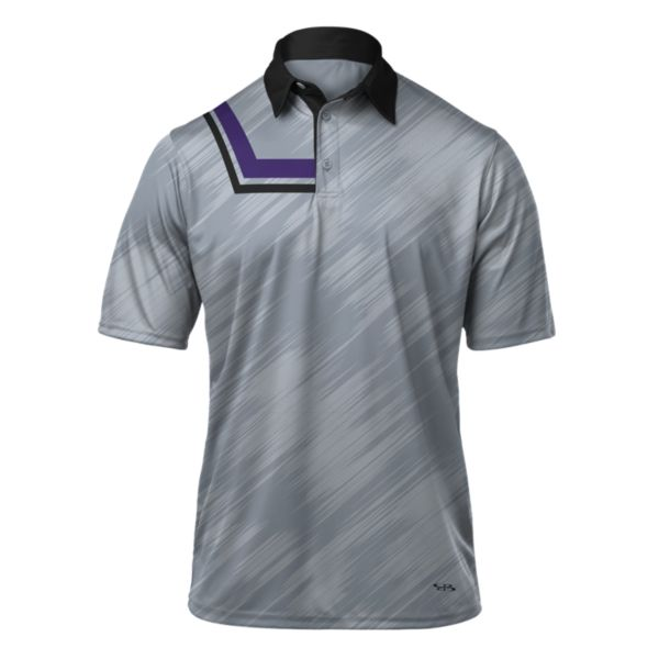 Men's Alpha Polo Gray/Black/Purple
