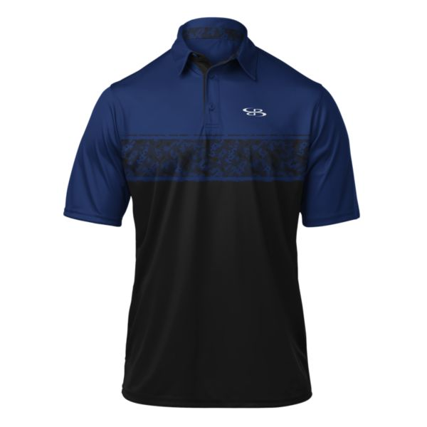 Men's Static Polo Black/Royal