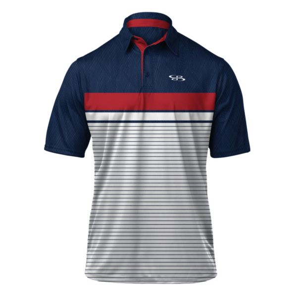 Men's Horizon Polo Navy/White/Red