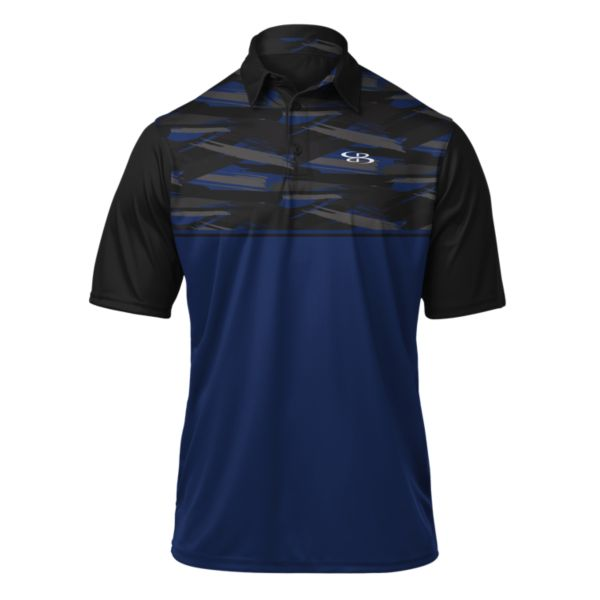 Mens Strike Polo Royal/Black