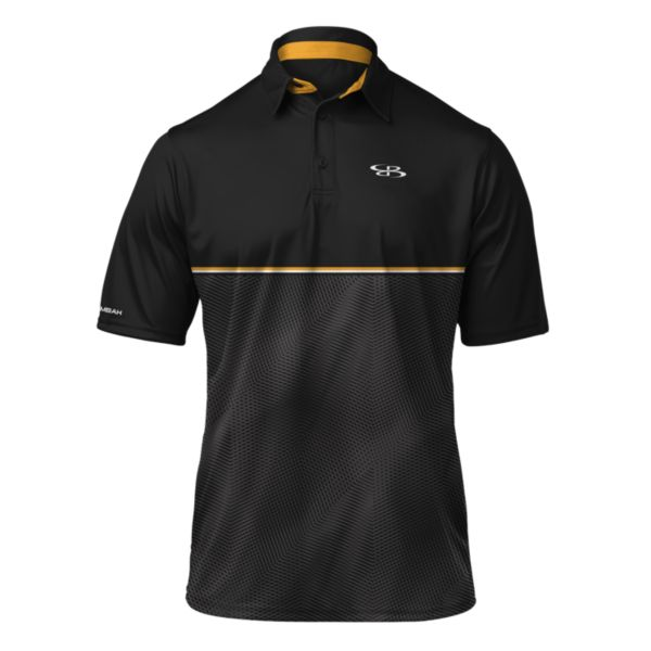 Men's Matrix Polo Black/Gold/White