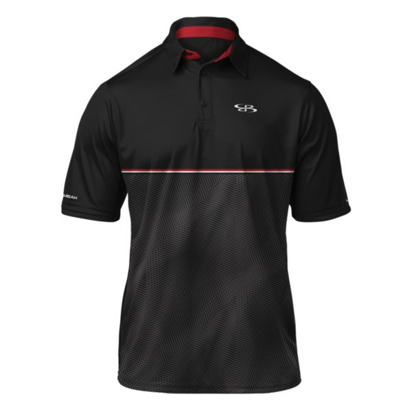 Men's Matrix Polo Black/Red/White