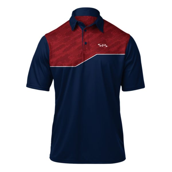 Men's Audible Polo Navy/Red