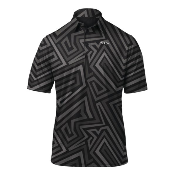 Men's Craze Loose Fit Polo Black