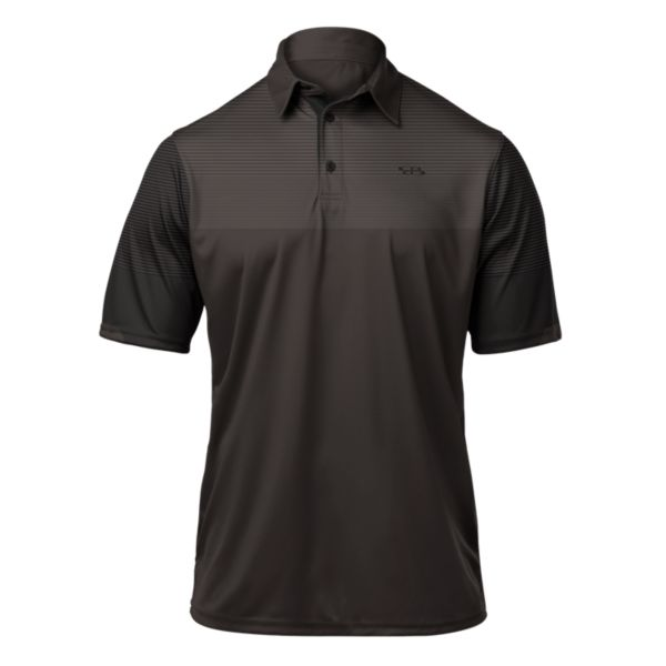 Men's Stripe Polo Dark Charcoal/Black