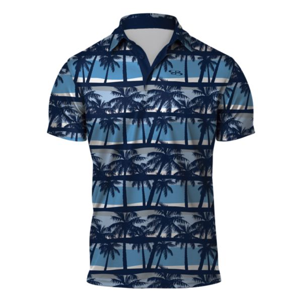 Men's Breeze Semi-Fitted Polo Navy/Columbia/White