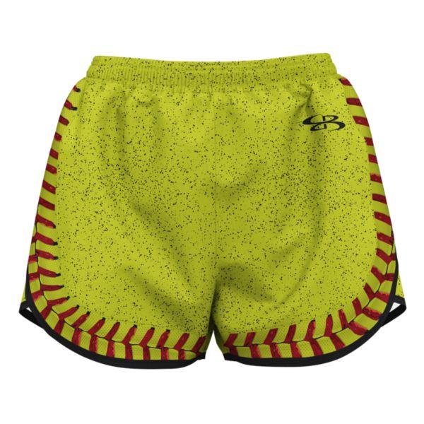 Girl's Softball Seams Aspire Short Optic Yellow/Red/Black