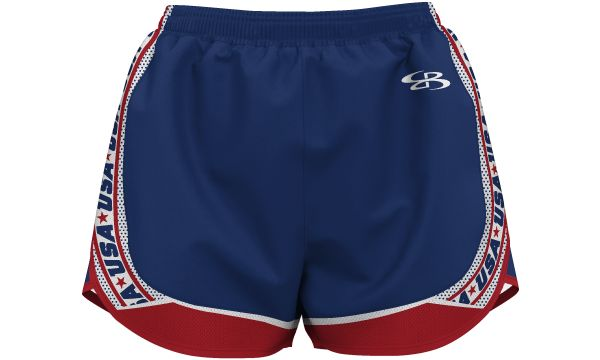 Girl's USA Retro Aspire Short Royal Blue/Red/White