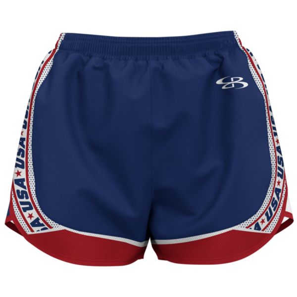 Women's USA Retro Aspire Shorts Royal/Red/White