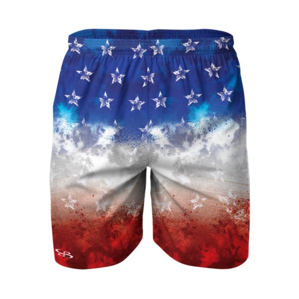 Men's Defy Reflex Woven USA Faded Flag Training Shorts