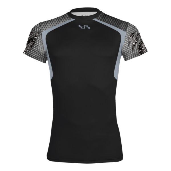 Men's Machine Ultra Performance Compression S/S Shirt Black/Gray/Steel