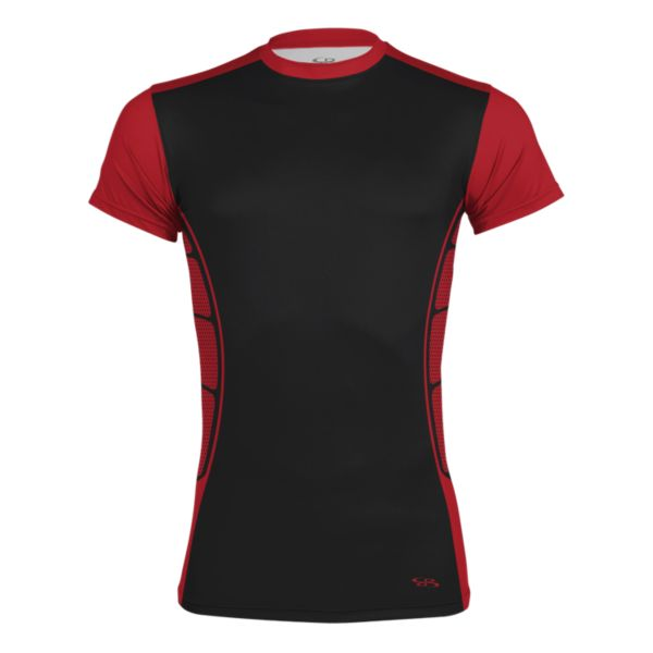 Men's Arma S/S Compression Tee Black/Red